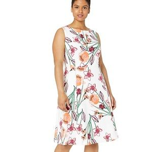 Calvin Klein Fit and Flare floral dress 16 W
